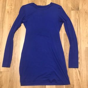 Dresses & Skirts - From REVOLVE Royal blue long sleeve comfy mini
